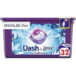Dash Dash Lessive en capsules la collection envolée d'air La boîte de 32 lavages