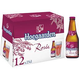 Hoegaarden Hoegaarden Bière rosée les 12 bouteilles de 25 cl