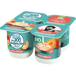 Les 300 & Bio Les 300 & bio Yaourt pêche-abricot BIO les 4 pots de 125 g