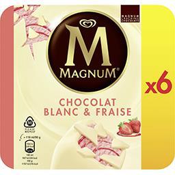 Magnum Magnum Glace chocolat blanc et fraise la boîte de 6 bâtonnets - 540g