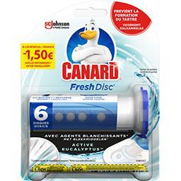 Canard Canard Fresh Disc - Disque de gel WC Active Eucalyptus le kit de 36 ml