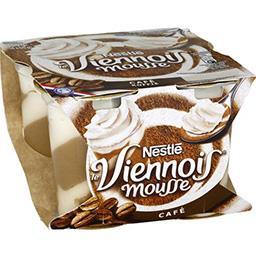 Nestlé Nestlé Le Viennois - Dessert mousse café les 4 pots de 90 g
