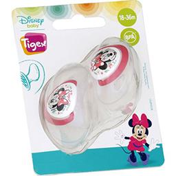 Walt Disney Tigex Sucette silicone +18 mois minnie Le lot de 2