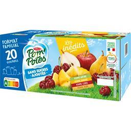 Materne Pom'potes Pom'Potes - Spécialité de fruit sans sucres ajoutés les 20 gourdes de 90 g