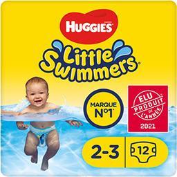 Huggies Huggies Little Swimmers - Maillots de bain jetables taille 2-3 : 3-8 kg le paquet de 12 couches