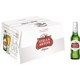 Stella Artois Stella Artois Bière belge Premium les 24 bouteilles de 25 cl