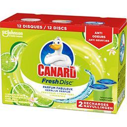 Canard Canard Fresh Disc - Recharge disques fraîcheur citron vert les 2 recharges de 36 ml