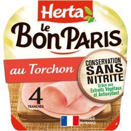 Herta Herta Le Bon Paris - Jambon au Torchon la barquette de 4 tranches - 140g