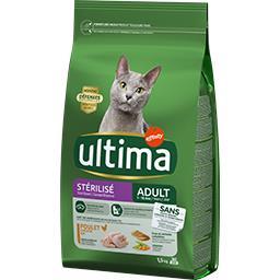 Ultima Ultima croquettes pour chat stérilisé adulte poulet le sac de 1,5 kg