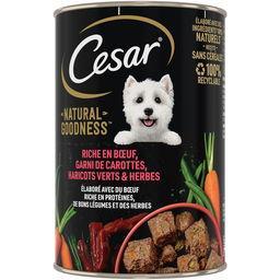 Cesar César Natural Goodness -  - Pâté riche en bœuf pour chiens la boite de 400 g