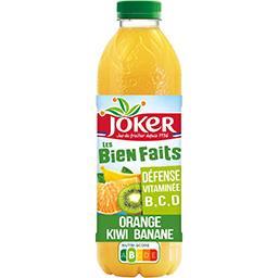 Joker Joker Les Bien Faits - Jus orange kiwi banane la bouteille de 0,9 l