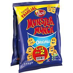 Monster Munch Vico Monster Munch - Biscuits apéritif Original le lot de 2 sachets de 135 g - Format Familial