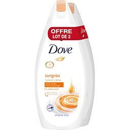 Dove Dove Gel douche - surgras huile et crème le lot de 2 flacons de 750ml - 1500ml