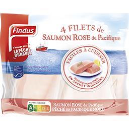 Findus Findus Filets de saumon rose du Pacifique le sachet de 400 g