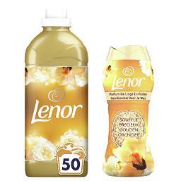 Lenor Lenor Adoucissant souffle précieux, la bouteille de 1.15l et parfum de linge en perles la boîte de 224g Le lot