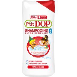 Dop P'tit Dop Shampooing 2 en 1 ultra démêlant fraise cerise le flacon de 400 ml