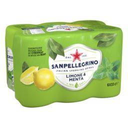 San Pellegrino San Pellegrino Boisson pétillante Limone e Menta les 6 canettes de 33cl