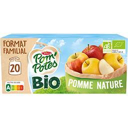 Materne Materne Pom'Potes BIO - Purée de pomme nature sans sucres ajoutés bio les 20 gourdes de 90 g