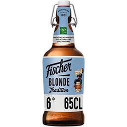 Fischer Fischer Bière blonde tradition d'Alsace la bouteille de 65cl