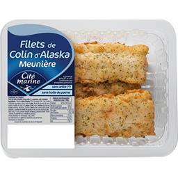 Cité Marine Cité Marine Filet de colin d'Alaska, sans arêtes, meunière, cuit, réfrigéré. la barquette de 400g