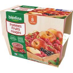 Blédina Blédina Desserts pommes fruits rouges, de 8 à 36 mois les 4 pots de 100 g