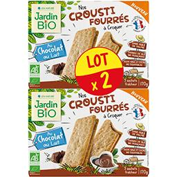 Jardin Bio Jardin bio Crousti Fourrés au chocolat au lait BIO le lot de 2 boites de 170 g