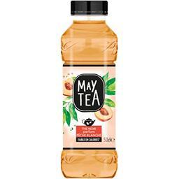 May Tea May Tea Boisson thé noir parfum pêche blanche la bouteille de 50 cl