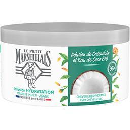 Le Petit Marseillais Le Petit Marseillais Masque capillaire hydratation intense - infusion de calendula et eau de coco le pot de 300ml