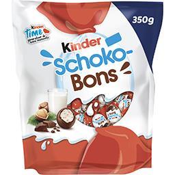 Kinder Kinder Schoko-Bons - Bonbons de chocolat fourrés au lait et aux noisettes le sachet de 350 g