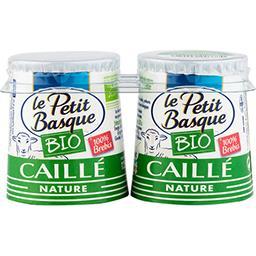 Le Petit Basque Le Petit Basque Yaourt caillé de brebis BIO les 2 pots de 125 g