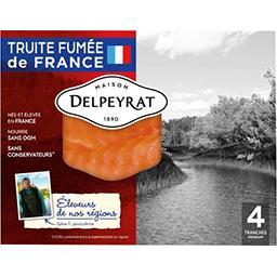Delpeyrat Delpeyrat Truite fumée Pyrénées la barquette de 4 tranches - 120 g