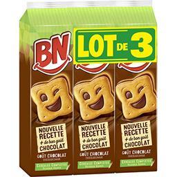 BN BN Biscuit chocolat le lot de 3