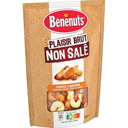 Bénénuts Bénénuts Mélange raisins amandes cajous noix du Brésil non salé le sachet de 160 g