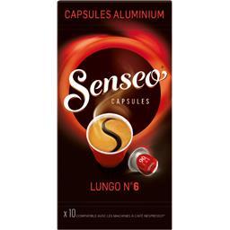 Maison du Café Senseo Capsules de café moulu Lungo n° 6 la boite de 10 capsules - 52 g