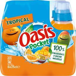 Oasis Oasis Pocket - Boisson Tropical les 6 bouteilles de 25 cl