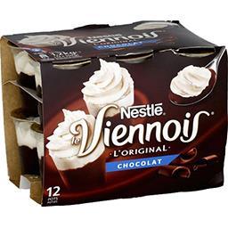 Nestlé Nestlé Le Viennois - Dessert lacté chocolat les 12 pots de 100 g