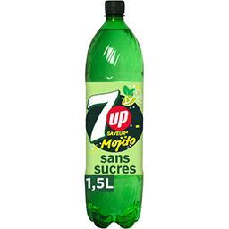 Seven Up Seven Up Soda Free saveur Mojito zéro sucres la bouteille de 1,5 l