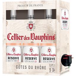 Cellier des dauphins Cellier des dauphins Vin rouge vielles vignes Côtes du Rhône la fontaine de 2,25l