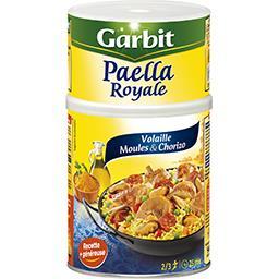 Garbit Garbit Paëlla royale volaille fruits de mer & chorizo la boite de 940 g