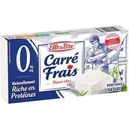 Elle & Vire Carré frais Fromage à tartiner recette nature les 8 portions de 25 g