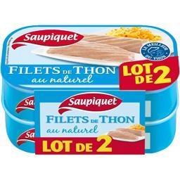 Saupiquet Saupiquet Filets de thon au naturel LE LOT DE 2 - 162 gr