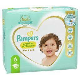 Pampers Pampers Couches Premium Protection taille6, 13kg+ Le paquet de 30 couches