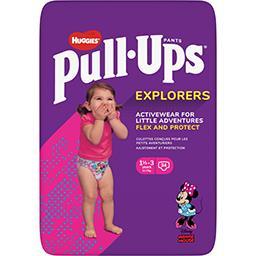 Huggies Huggies Pull-Ups - Couches-culottes fille Explorers, 12-17 kg le paquet de 34
