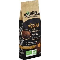 Naturela Naturela Café moulu pur arabica Pérou BIO le paquet de 250 g