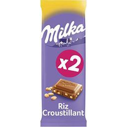 Milka Milka Chocolat au lait riz croustillant les 2 tablettes de 100 g