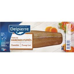 Delpierre Delpierre Filets de harengs fumés au naturel le paquet de 200 g