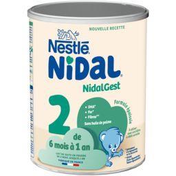 Nestlé Nestlé NidalGest - Lait Infantile 2ème âge poudre, dès 6 mois la boite de 800 g