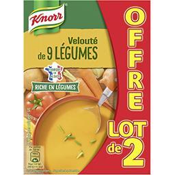 Knorr Knorr Soupe veloutée aux 9 légumes le lot de 2 briques de 1l