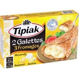 Tipiak Tipiak Galettes 3 fromages les 2 galettes de 125 g