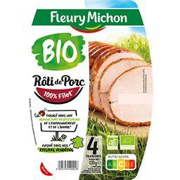 Fleury Michon Fleury Michon Rôti de porc supérieur BIO la barquette de 4 tranches - 120g